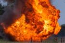 Харьковские партизаны выстрелили по цистерне с топливом - ВИДЕО