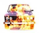 Двое мужчин угнали машину таксиста и сожгли её