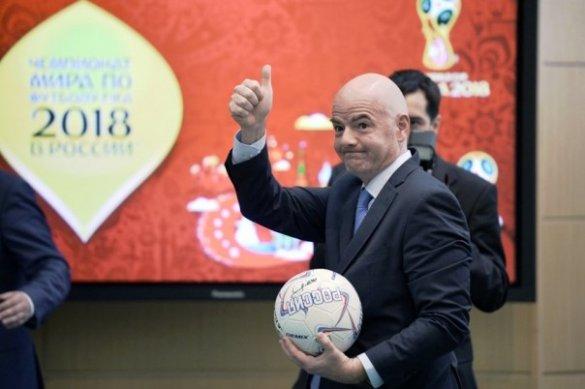 Глава ФИФА заявил, что решение МОК не повлияет на проведение ЧМ-2018 в России
