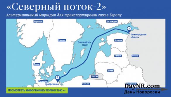 Германия разрешила строительство «Северного потока-2» в своих водах