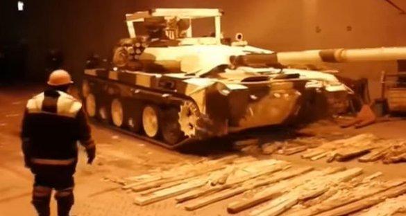 Отгрузка танков Т-90С в Ирак