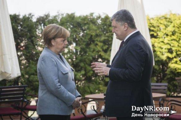 Меркель пообещала Порошенко оставить немножко газа