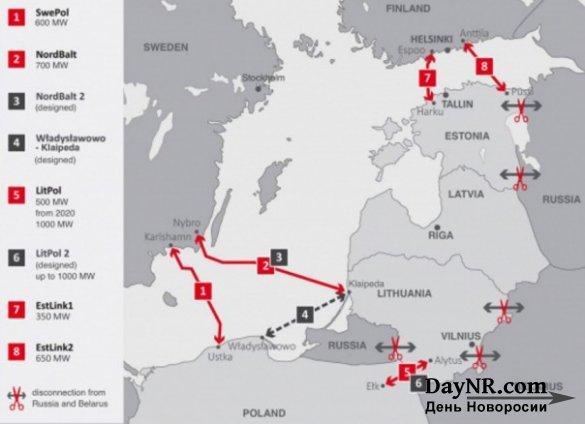 Как Прибалтика «выключает» свет с Россией и Белоруссией