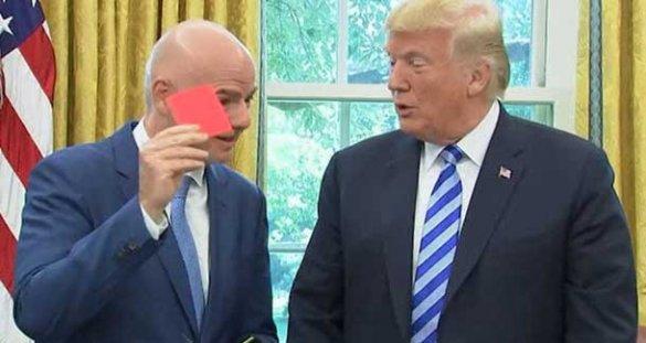 Трамп допустил переименование «соккера» в «футбол» после красной карточки от Инфантино