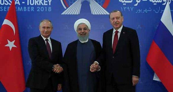 Встреча президентов Ирана, России и Турции в Тегеране